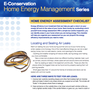 Cover photo for Conduct a Home Energy Self Assessment